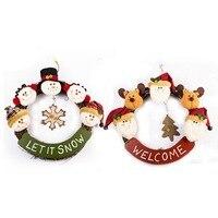 2017 New 2PCS Good Quality Christmas Garland Decor Ornaments Colormix Garland Decor Ornaments For Christmas Party