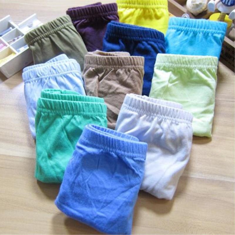 3pc Solid Baby Boys Panties Briefs Kids Underwear Boys  Panties Children  Underwear Suit for 1--12 Years 4