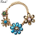 Bohemia Maxi Big Crystal flower choker necklace 2017 New sping fashion boho jewelry Big statement necklace for women accessories