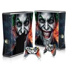 2098 The Joker Custom Vinyl Skin Host Protective Film Sticker & 2 Gamepad Decals Covers for Xbox 360 Slim Console