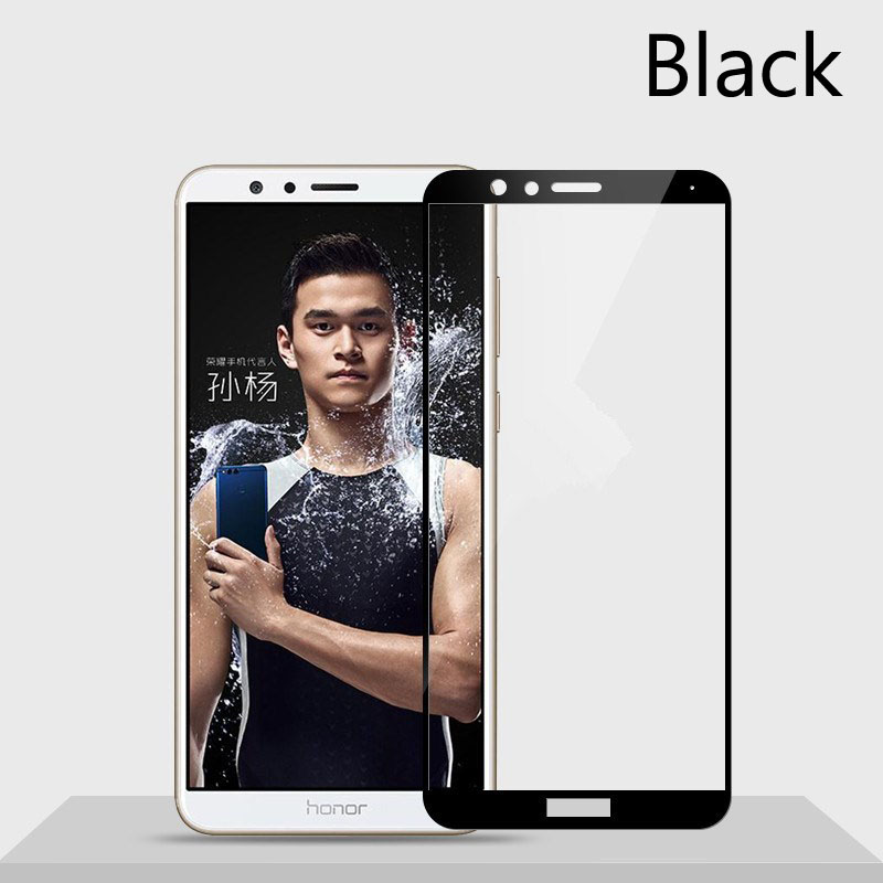 For Huawei honor 7x glass tempered For huawei honor 7 x X7 screen protector full cover on honor7x glas protective film Case 9h