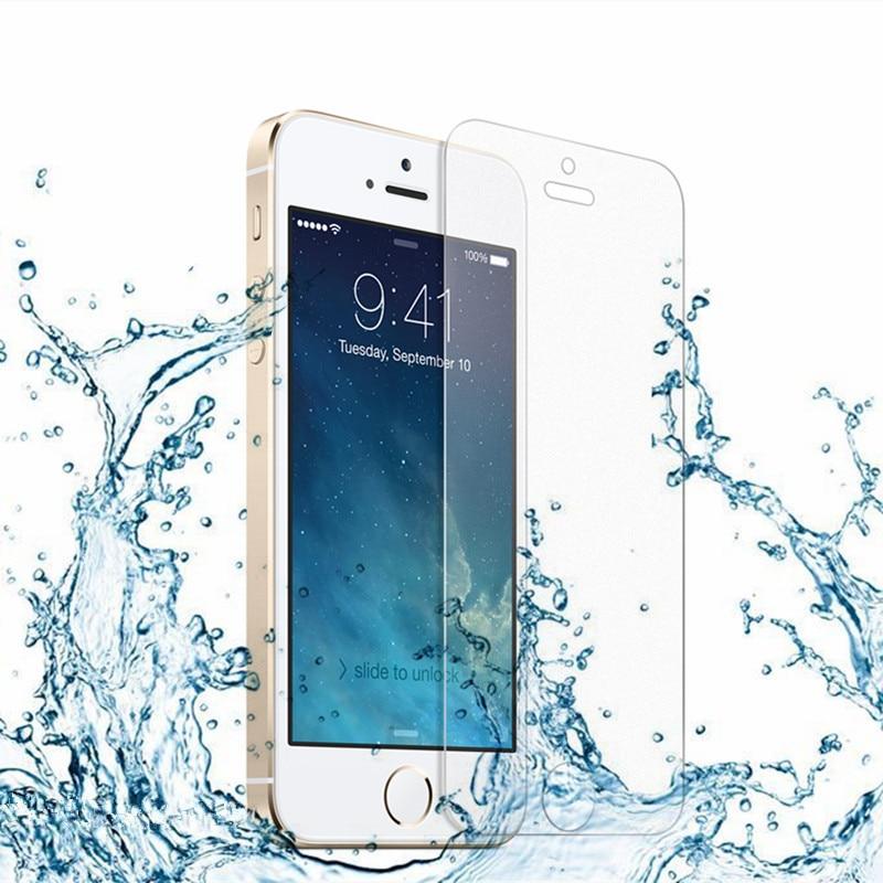 Vidrio templado caso de coque para iphone se/iphone 5 5c 5s ultra-delgado de 0.3