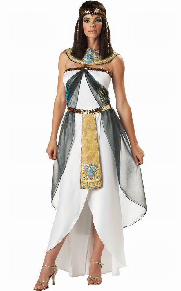 Halloween Costume Greece Goddess Egypt Queen Dress Arab Girl White Cosplay Costume