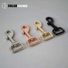 10pcs metal buckle snap hook for key chain dog cat pet leash straps safe swivel lobster leather 25mm 1 inch belt 4 colors