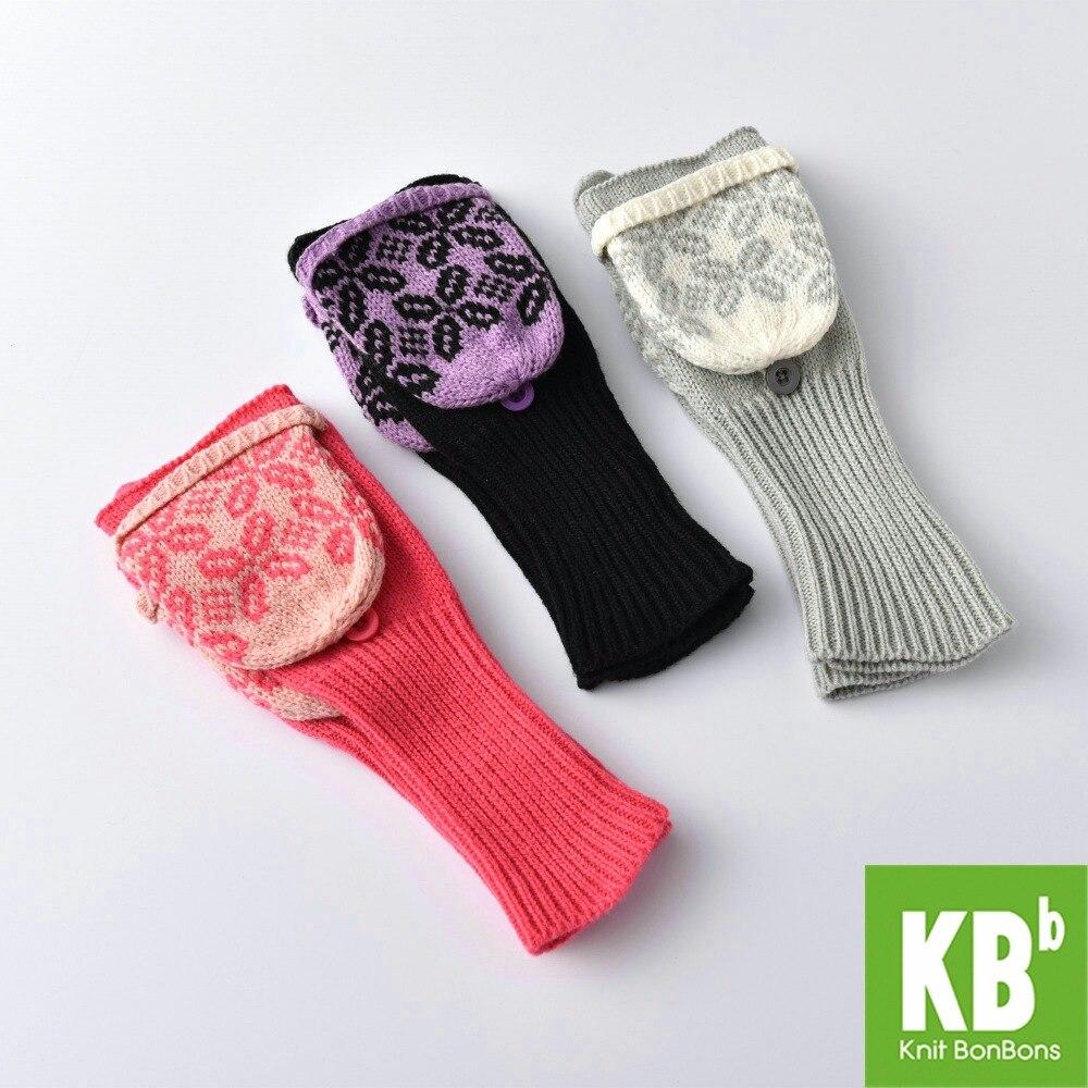 Mens gloves knitting pattern - 2017 Spring Kbb Women Men Comfy 3 Colours Designer Yarn Knit Pattern Winter Fingerless Gloves Mitten