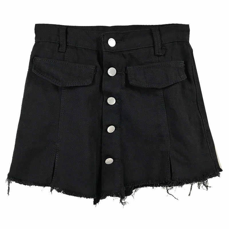 B2456 Versi Korea Baru Musim Panas 2019 Wanita 'S Fashion Fitur Slim Pinggang Tinggi Celana Pendek Denim Murah Grosir