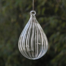 Рождественская елка орнамент подвеска полосатый стеклянный шар Рождественский день стеклянные подарки Висячие декоративные стеклянные глобусы