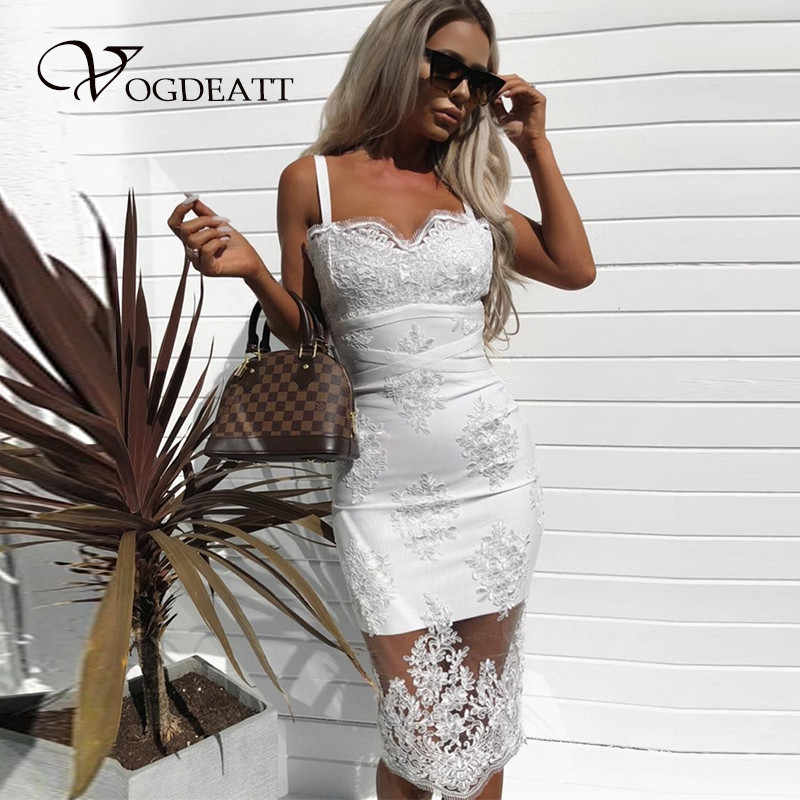 b1be7c7753 Embroidery V Neck Backless Dress Women Sexy Lace White Black Dress Summer  Cross Strap Bodycon Mesh