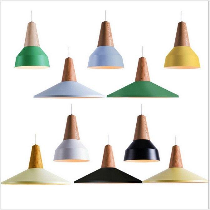 Lampes suspendues modernes Led colorées E27 lampes Colgantes Pendente de teto pour salle de café salon Restaurant suspension lampe