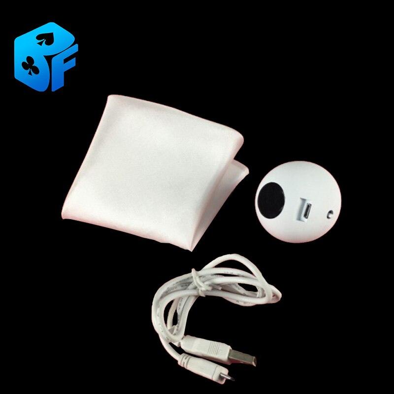 Soie électrique à boule-vitesse rapide (blanc) boule magique tours de magie accessoires de magie