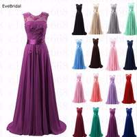 A line Scoop Chiffon Applique elegant off shoulder cheap bridesmaid dresses Wedding party dresses robe de soiree zipper Back