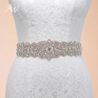 AW Handmade Rhinestones Crystals Wedding Belts Wedding Accessories Bridal Belts YD130021LCP