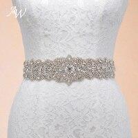 AW Handmade Rhinestones Crystals Wedding Belts Wedding Accessories Bridal Belts YD130021LCP