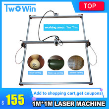 DIY 15 W Big Power Laser Engraver, Mesin Laser Cutting Metal, 1*1 M, besar Ukuran Kerja Laser Mengukir Mesin Laser Marking(China)