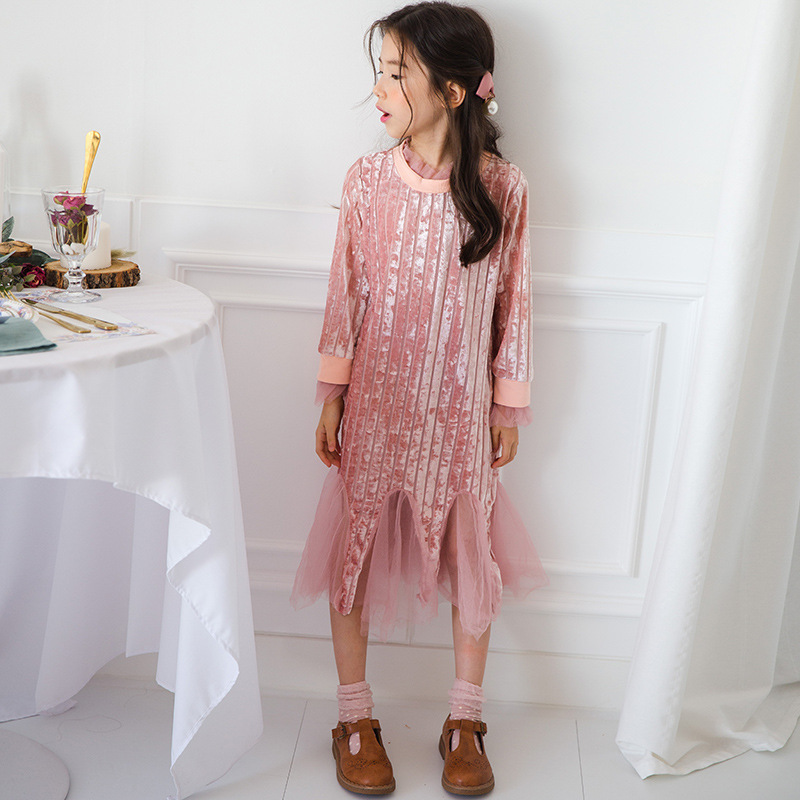 Mother & Kids Impartial Children Shirt Dress 2019 New Spring Fishtail Children Cotton Mesh Shirts Toddler Baby Princess Sweatshirt Dress For Girl 3-12y Dresses