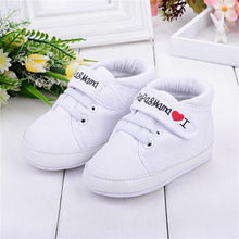 Baby Infant Kid Boy Girl Soft cotton Sole Canvas Sneaker Toddler Shoes learning walk footwear for baby sport baby casual shoe(China)