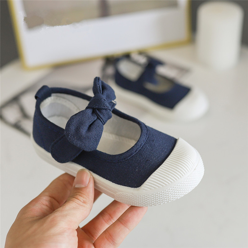 Children 39 s Casual Wear shoes colorful canvas slip on Shoes Candy color Baby Girls shoes with cute bowknot Hook amp loop SH19027 in Sneakers from Mother amp Kids