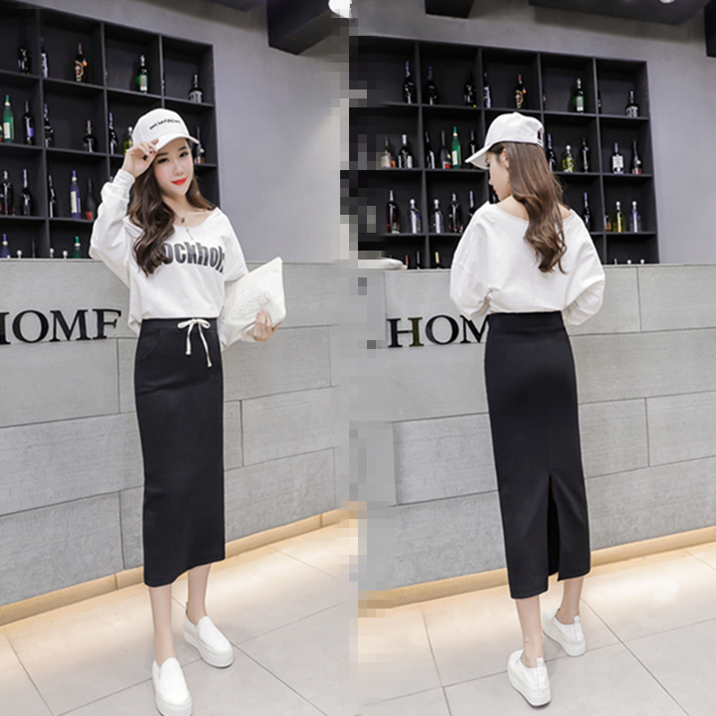 Image 3 - Spring Summer Sexy Women Bodycon Split Long Skirt Black High Waist Tight Maxi Skirts Club Party Wear Elegant Pencil Skirt D157-in Skirts from Women's Clothing