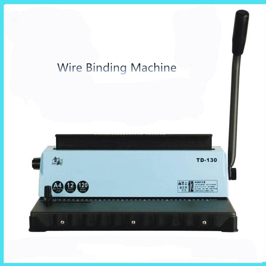 A4 Wire binding machine TD-130 Manual A4 Printing Paper Book Binder books binding machine