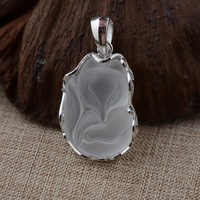 Colgante de plata esterlina S925 plata cristal del mosaico mosaico mujer zorro de galvanoplastia de plástico colgante de regalo