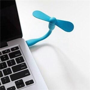 Image 2 - المحمولة الأصلي شاومي Mijia صغيرة USB ضوء مرنة انفصال USB مروحة Xiomi المحمولة LED ضوء مع التبديل التحكم 5 فولت 0