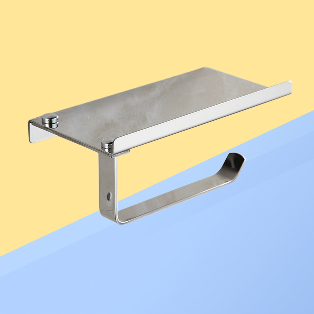 Stainless Steel Wall Mount Toilet Polished Towel Rack Tissue Holder ...