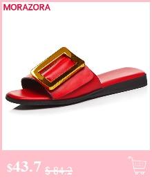 HTB1lSE0lBjTBKNjSZFNq6ysFXXaX MORAZORA Plus size 34-46 New genuine leather sandals women shoes fashion flat sandals cow leather summer rhinestone ladies shoes