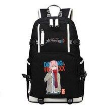 DitF darling에서 FRANXX 여행 배낭 ICHIGO MIKU ZERO TWO Cos 여성 Bagpack 캔버스 학교 가방 10 대 소녀 Bookbag