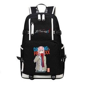 Image 1 - DitF mochila de viaje de DARLING in the FRANXX para mujer, bolso escolar de lona para adolescentes y niñas, ICHIGO MIKU ZERO TWO Cos