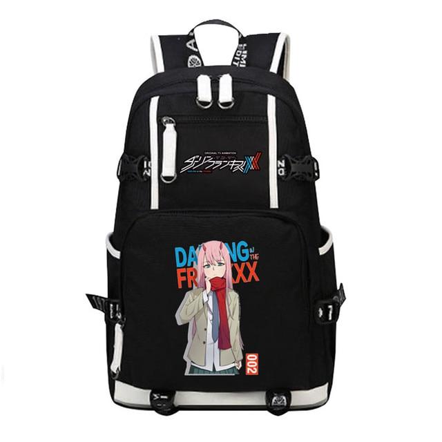 DitF mochila de viaje de DARLING in the FRANXX para mujer, bolso escolar de lona para adolescentes y niñas, ICHIGO MIKU ZERO TWO Cos