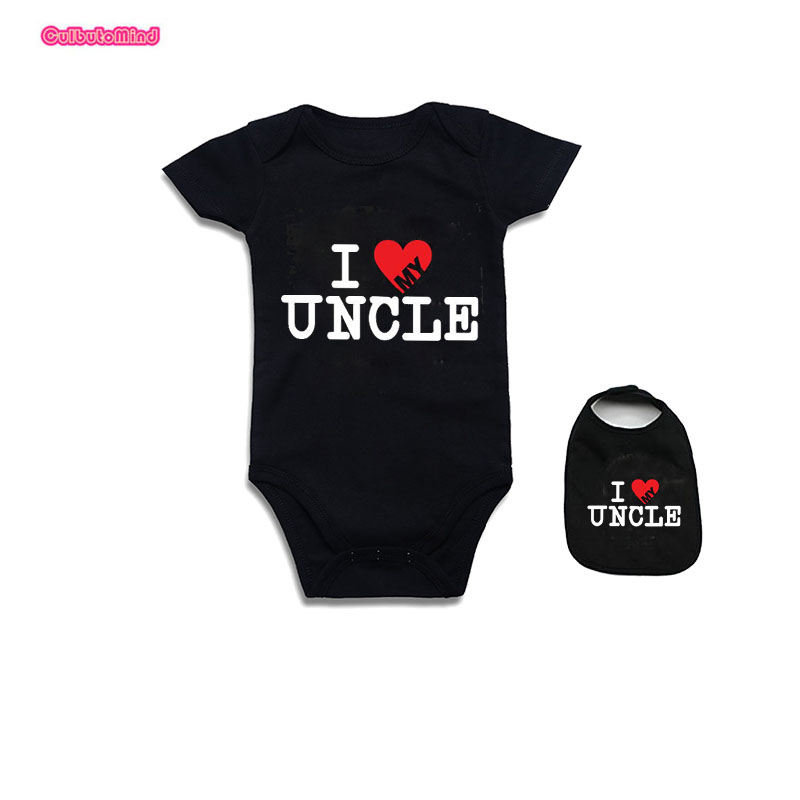 Baby ClothesNewborn Baby Bodysuit Short Sleeve Baby Boy Girl Clothes Funny auntie uncle jumpsuit Tiny Cottons Baby Clothes 0-12m ...