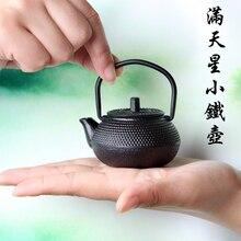 Mini roheisen wasserkocher topf teekanne Japanische gusseisen tee topf tee pet ornamente zubehör Oscar sonderangebot freies verschiffen