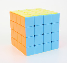 4x4x4 YongJun YuSu Magic Cube Puzzle Cubes Speed Cubo Square Puzzle No Sticker Rainbow Gifts Educational Toys for Children недорого