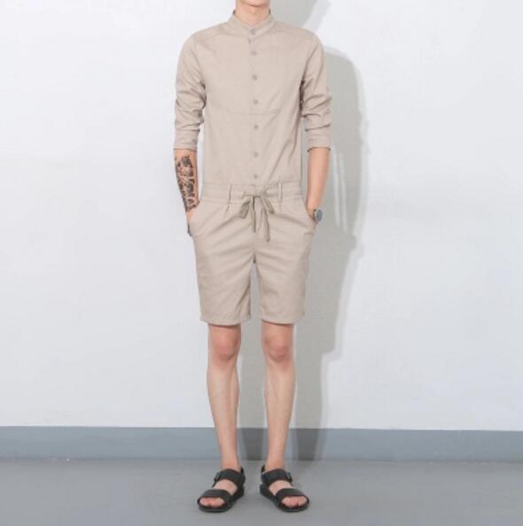 2017 Nachtclub Männer Neue Kleidung Mode Overall Männliche Beiläufige Dünne Knie-länge Body Overalls Hosen Sängerin Kostüme M-xxl