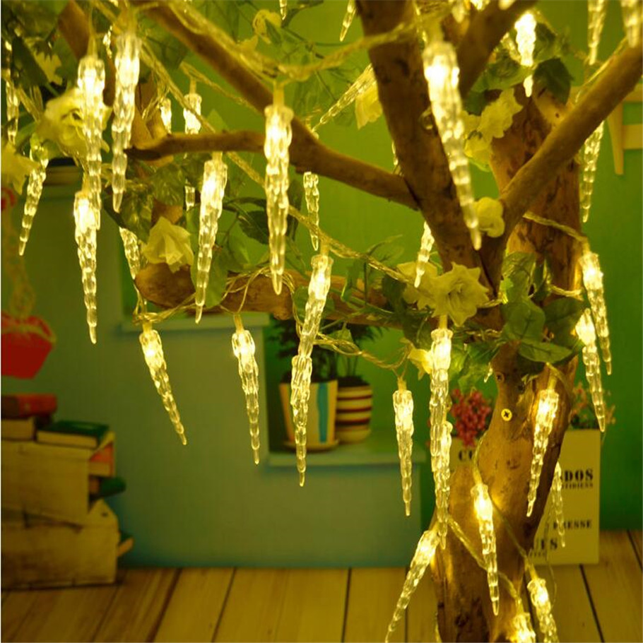 2016 New 10M50 LED 220vLED icicle lights Christmas lights Xmas party wedding decoration  ...