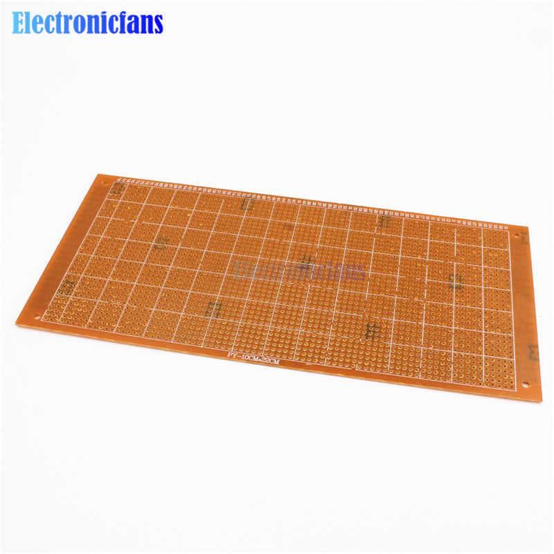 10x22 cm bricolage bakélite plaque papier Prototype PCB platine de prototypage universel expérience matrice panneau simple face feuille de cuivre 10*22 CM