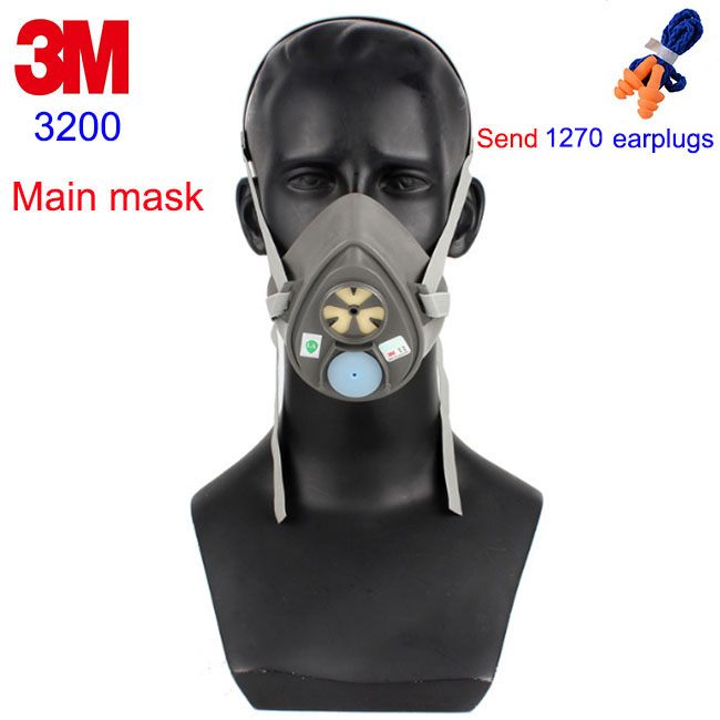 3M 3200 Respirator Mask Dust / Antivirus 2 Type Filter Mask Can Cooperate With 3001/3003 / 3N11 / 3701 And Other Filters