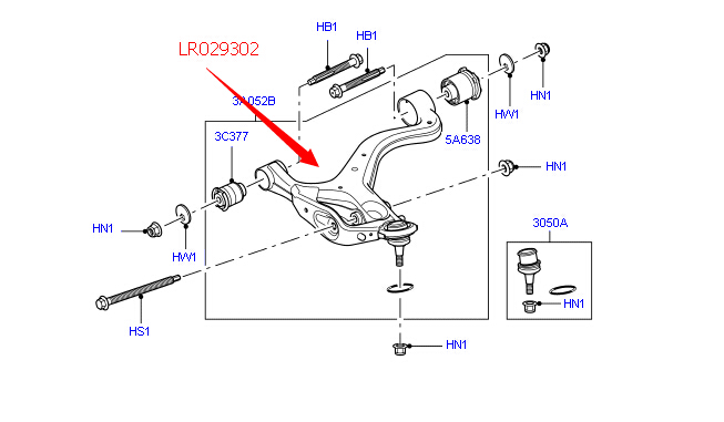 Lr029302 Lr025618 Lr014674 Left Front Suspension Control Arm For