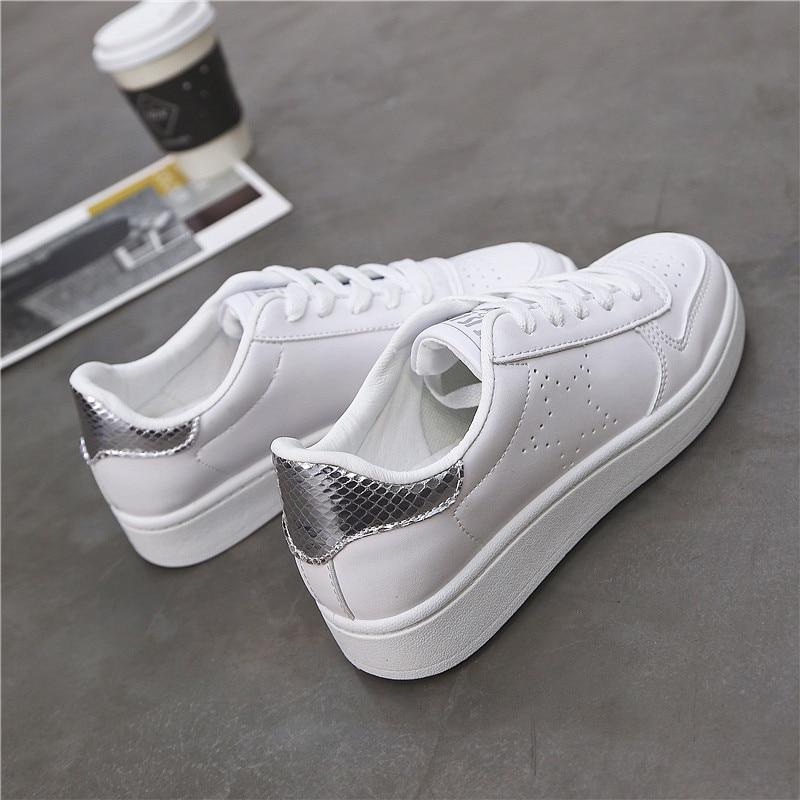 Hemmyi shoes woman 2018 spring new fashion white casual shoes tenis feminino female platform sneakers breathable basket femme