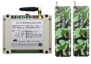 Новый DC12-48V 2CH РЧ беспроводной переключатель системы дистанционного управления дверь библиотеки управления 2 шт. (JRL-9) передатчик 1 приемник о...