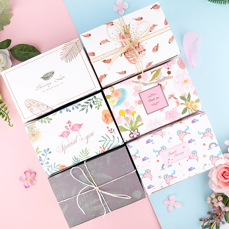 Cute High End Unicorn Flamingo Candy Packaging Gift Box Creative Tote Bag Pineapple Cake Cookie Wedding Nougat Packaging Boxes