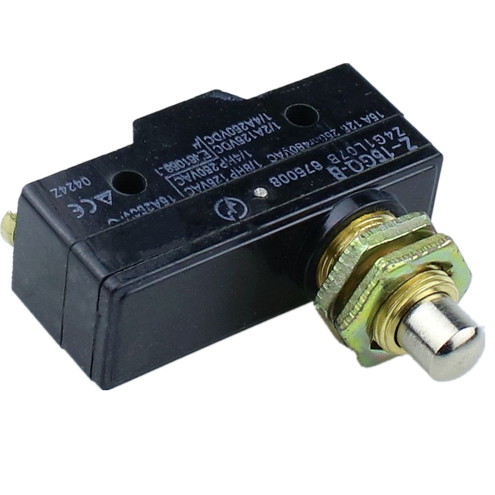 Push Button Plunger Momentary Micro Limit Switch SPDT 16A