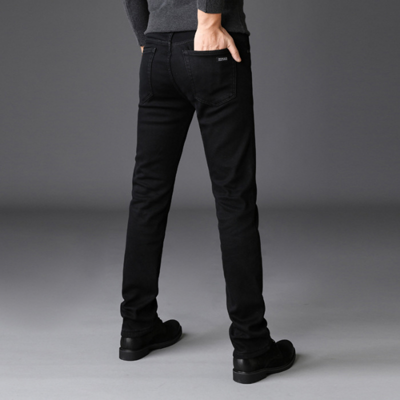 2019 New Trousers Men Clothes Black Elasticity Skinny Jeans Business Casual Male Denim Slim Pants Classic Style Big Size 40