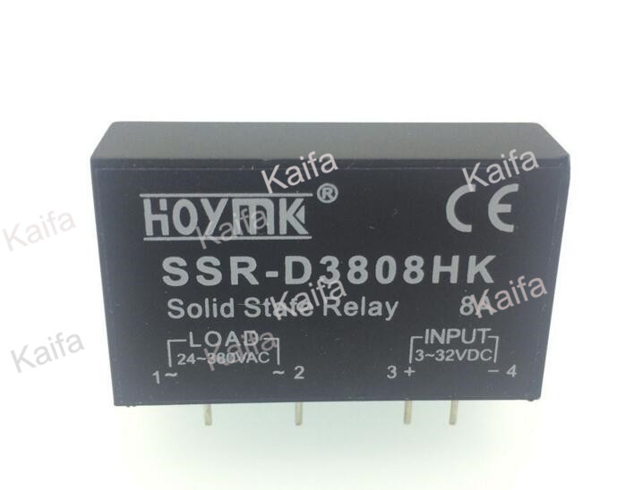 PCB Dedicated with Pins SSR-D3808HK 8A DC-AC Solid State Relay SSR D3808HK 1pc new solid state relay g3mb 202p dc ac pcb ssr in 12v dc out 240v ac 2a june xq s018y high quality