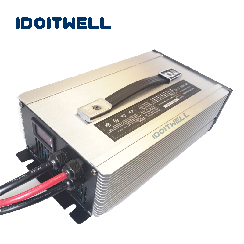 Custom professional automatic 24V battery charger 60A led display 24V power battery charger for 100AH 180AH 200AH 240AH 600AH