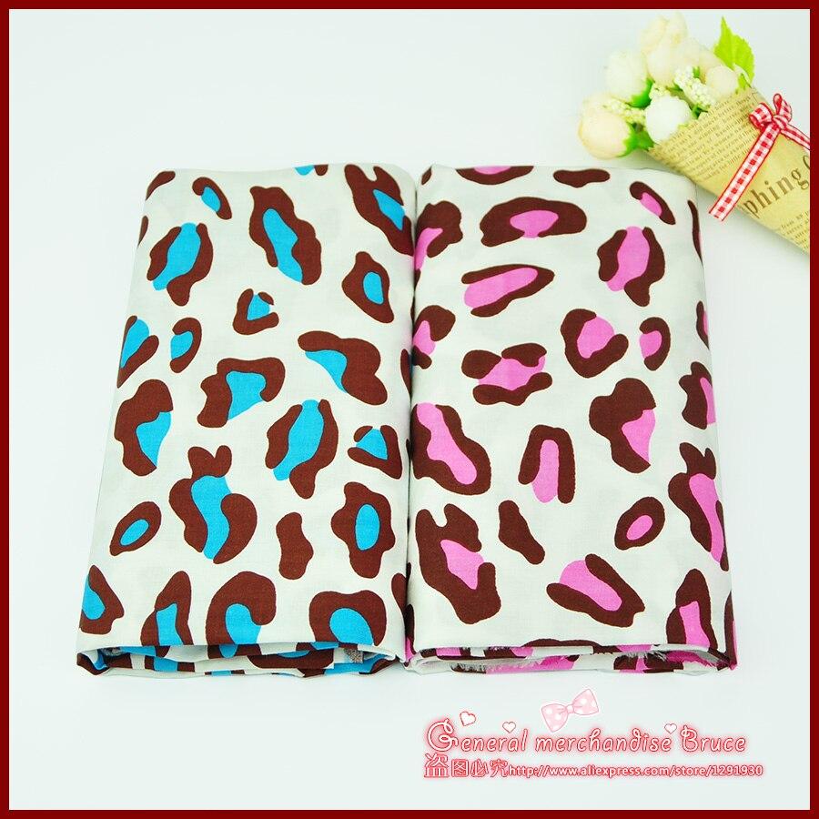 2pcs 160 50cm Leopard series nice patchwork baby cloth font b tartan b font ethnic fabric