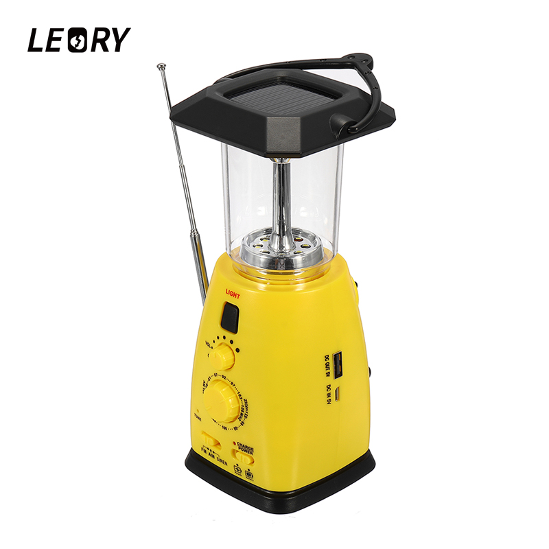 LEORY Portable Hand Crank Solar Emergency Radio AM/FM Digital Mobile Phone Charging 8 LED Solar Dynamo Light Radio For Outdoor icoco 3 in 1 emergency charger flashlight hand crank generator wind up solar dynamo powered fm am radio charger led flashlight