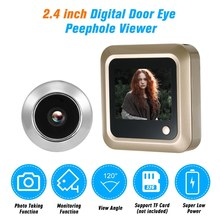 2.4 inch Digital Video Eyes Peephole Door Viewer LCD Security Camera Monitor Home Security Kit retractable home security camera optical glass anti theft video door peephole
