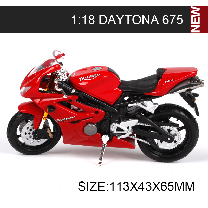 Maisto 1:18 Motorcycle Models Triumph THUNDERBIRD SPRINT RS/TRIPLE DAYTONA 675/955i Miniature Race Toy For Gift Collection