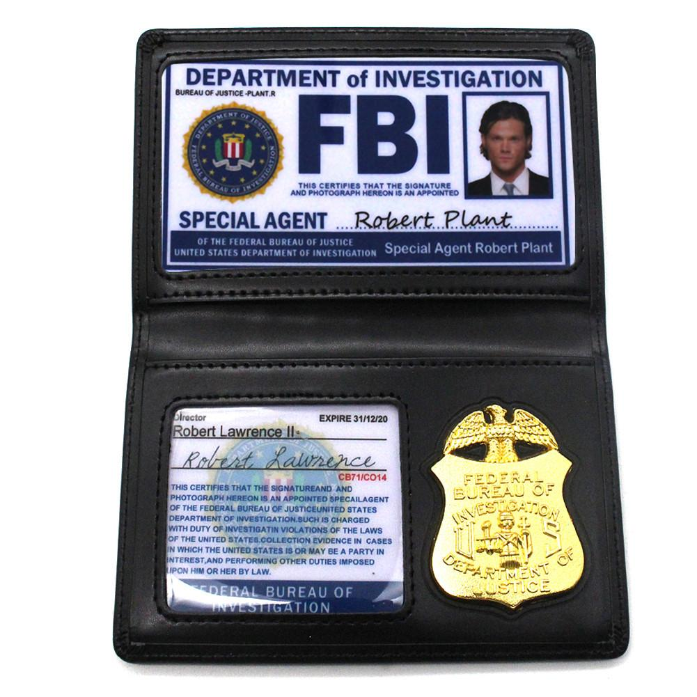 Hot Sale Role Playing Props Supernatural Dean Sam Winchester FBI Badge Card Holder Police ID Cards Cosplay New Arrival